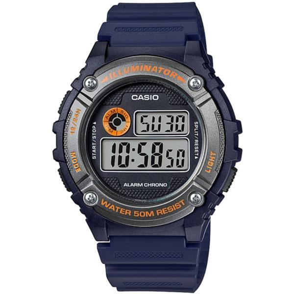 CASIO 競速電小子休閒數字錶(藍x灰)_W-216H-2B