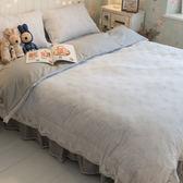 凝膠纖維小枝芽 雙人蕾絲鋪棉床裙與兩用被四件組 綜合材質 100%純棉/凝膠纖維