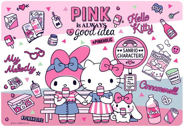 【拼圖總動員 PUZZLE STORY】Hello Kitty-PINK PuzzleStory/63P/兒童/紙板
