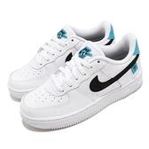 Nike 休閒鞋 Force 1 WW PS 白 藍 童鞋 中童鞋 咬標設計 Worldwide 運動鞋【ACS】 CN8539-100