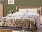 床架 QW-118-3A 里約白橡6尺雙人床(床頭+床底)(不含床墊) 【大眾家居舘】