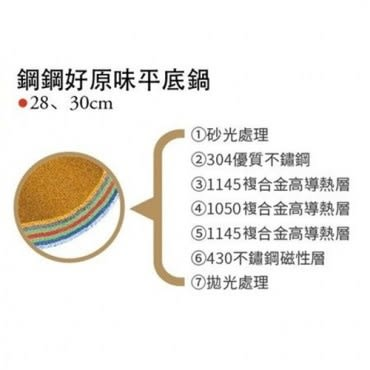 清水鋼鋼好原味湯鍋22cm+平底鍋30cm
