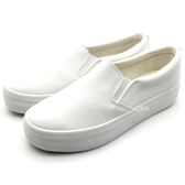 《7+1童鞋》女段 輕便透氣 百搭柔軟 休閒鞋 懶人鞋 E294 白色