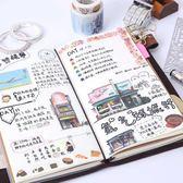 記賬本TN旅行手帳本子復古隨身筆記本文具皮日記本活頁創意記事手賬本 喵小姐