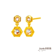 J'code真愛密碼 愛巢黃金/水晶耳環