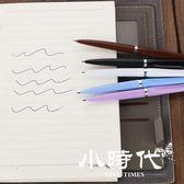原子筆 40入 刀型圓珠筆油筆刀形筆扁刀筆快遞開箱圓珠筆藍色0.7物流
