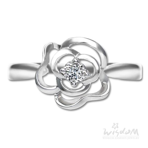 威世登 浪漫玫瑰鑽石戒指-女戒 婚戒推薦 情人節禮物 DA03835-AHHXX