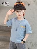 中大童T恤 小象漢姆童裝男童夏天t恤兒童體恤衫半袖2021夏裝新款中大童韓版 夢藝家