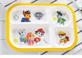 全館83折寶寶分格餐盤 汪汪隊兒童餐具套裝可愛卡通吃飯碗杯勺防摔輔食碗