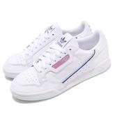 adidas 休閒鞋 Continental 80 W 白 藍 粉紅 小白鞋 復古款 女鞋 【PUMP306】 G27725