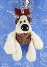 【震撼精品百貨】日本日式精品_狗DOG~絨毛鎖圈-沙包狗-白色