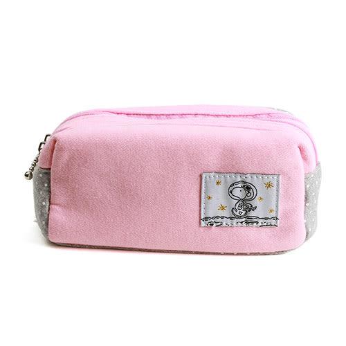 《Marimo》SNOOPY棉布雙層筆袋(太空人粉)★funbox生活用品★_FT72993