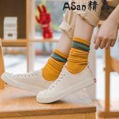 堆堆襪  中筒長襪韓版學院風純棉襪日系堆堆襪