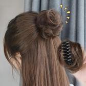 丸子頭假髮女丸子頭抓夾髮包小半丸子真髮蓬鬆仿真自然盤髮器假髮包【低至82折】