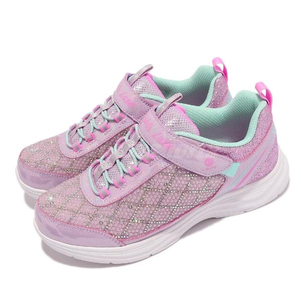 Skechers 燈鞋 S Lights Glimmer Kicks Sophisticated Shine 4-7歲 幼稚園 中童 粉 紫 運動鞋【ACS】 20336-LLVAQ
