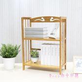 書架 桌面伸縮書架 桌上小書架 辦公室臺面簡易書柜置物架竹木創意LB3683【Rose中大尺碼】