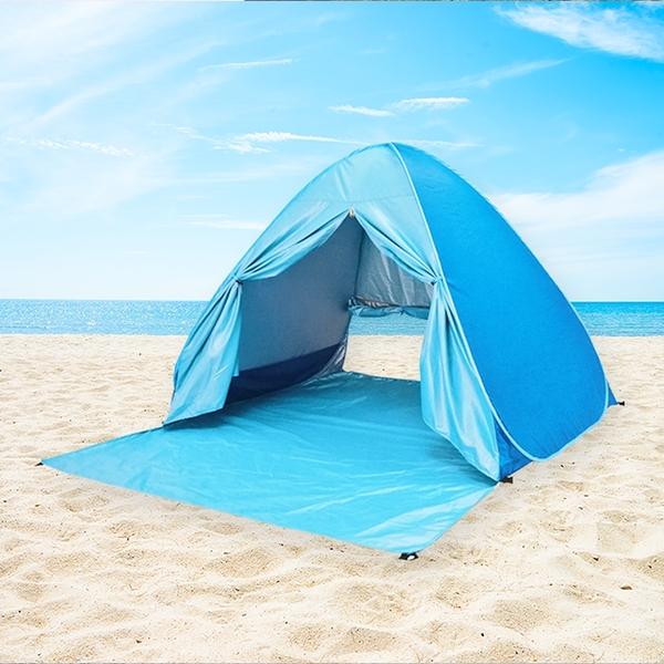 泰博思 帶窗款 全自動帳篷 快速秒開帳篷 免搭建 贈地釘【B00056】