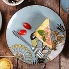 陶瓷餐盤(任兩款)-鳥語花卉手繪創意西餐...