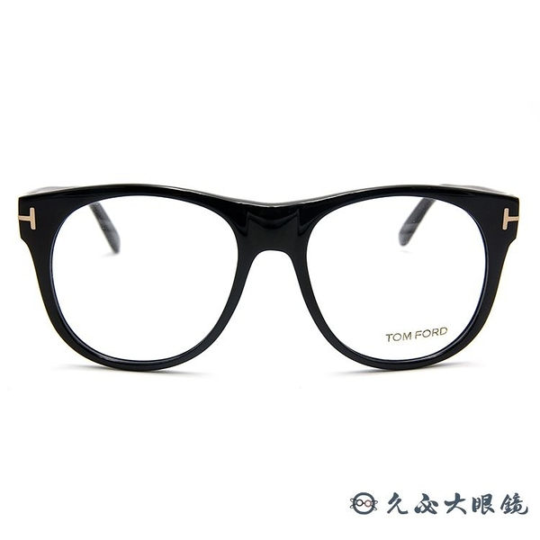 TOM FORD 眼鏡 TF5314 (黑) 圓框 近視眼鏡 久必大眼鏡