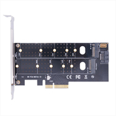Esense 逸盛 PCI-E 4X 雙協議 M.2 SSD 轉接卡 PCI-E/SATA 07-EMS003