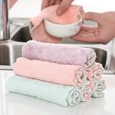 洗碗巾 吸水抹布擦碗毛巾家用廚房不沾油洗碗布雙層加厚餐具清潔巾