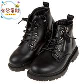 《布布童鞋》街頭型人黑色皮質高筒兒童馬汀靴(20.5~23公分) [ R9V008D ]