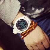 現貨 手錶男女情侶中學生韓版多功能大錶盤休閒運動個性電子錶
