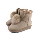 雪靴 靴子 戶外休閒鞋 可可色 童鞋 no109