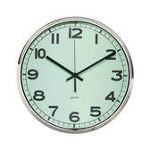 Lovel 31cm工業風鐵框魚眼鏡面靜音時鐘-綠(M7251N-GN)