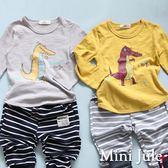 Mini Jule男童 上衣 印花恐龍草原長袖T恤(共2色)