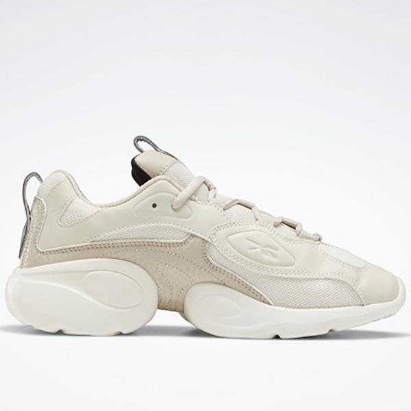 REEBOK ELECTRO 3D LT 女鞋 休閒 慢跑 老爹鞋 厚底 復古 米白【運動世界】EG6306
