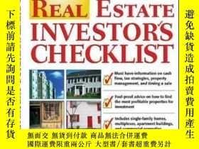 二手書博民逛書店Real罕見Estate Investor s Checklis