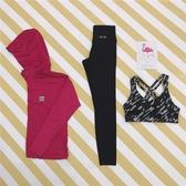 瑜伽服瑜伽服女健身房運動戶外跑步寬鬆衣速幹長褲三件套裝