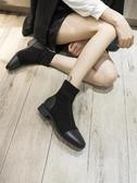 小短靴2019年秋冬季新款女鞋平底方頭馬丁襪靴子百搭瘦瘦秋款潮款