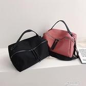 手提包 2021歐美時尚尼龍手提包簡約輕便休閒帆布斜跨包潮範單肩女包 16【快速出貨】