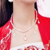 古風項圈古典原創漢服馬面軟瓔珞項圈古風配飾項錬吊墜民族風首飾女 COCO