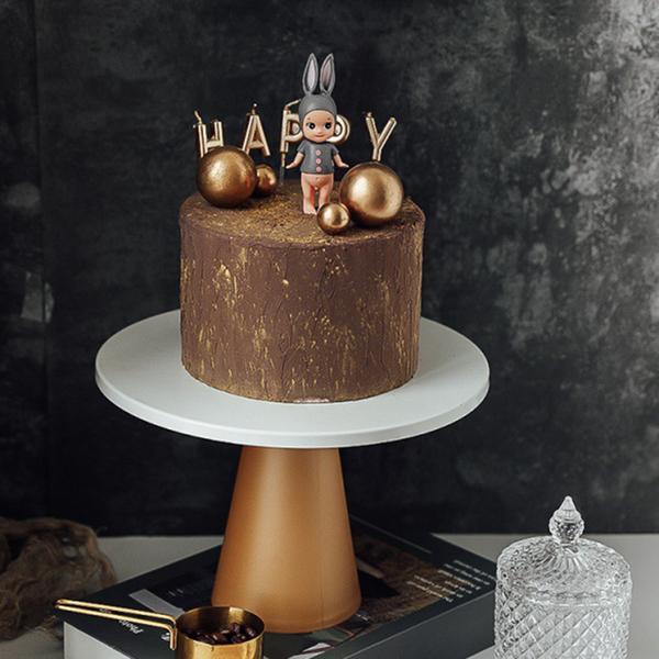 【BlueCat】大號 純白鐵盤 甜品高腳托台 (直徑25cm) 托盤 蛋糕盤 拍照道具 美食擺拍 背景 拍攝道具