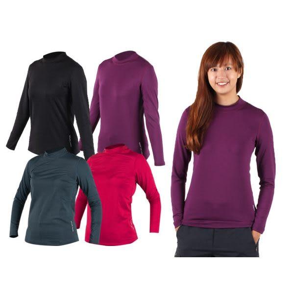 WILDLAND 女高領長袖T恤-(蓄熱保暖衣 刷毛 遠紅外線 內穿外搭