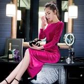 洋裝宴會晚禮服女 法式平時可穿裙子年會氣質晚會聚會小禮服裙(快速出貨)