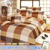 鋪棉床包 100%精梳棉 全舖棉床包兩用被四件組 雙人加大6*6.2尺 Best寢飾 FJ603-1