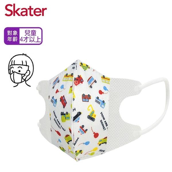 Skater 兒童立體醫療用口罩 10入 3D立體 幼童用醫療口罩 4歲以上 卡通口罩 2535