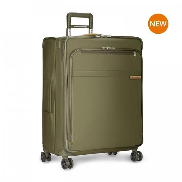 【終身保固 Briggs & Riley 超輕量系列BRU128CXSP-7】Baseline 28吋可擴充四輪行李箱(卡其)