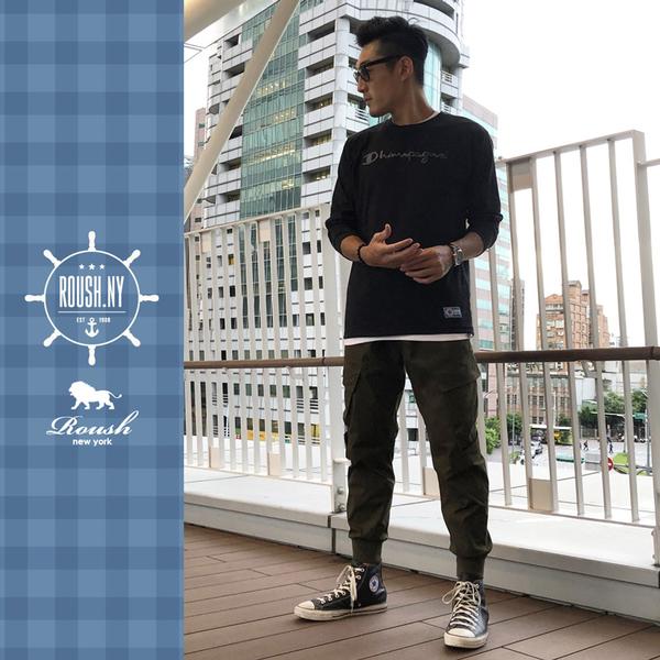 【Roush】 翻玩CHAMPION立體刺繡長TEE -【912535】