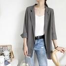 西裝外套 韓版小西裝外套女七分袖氣質雪紡上衣年夏季防曬薄款西服新款 星河光年