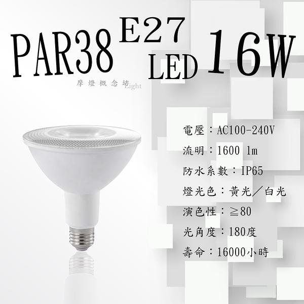 E27 LED燈泡 PAR38 16W IP65 【數位燈城 LED Light-Link】PAR20 / PAR30