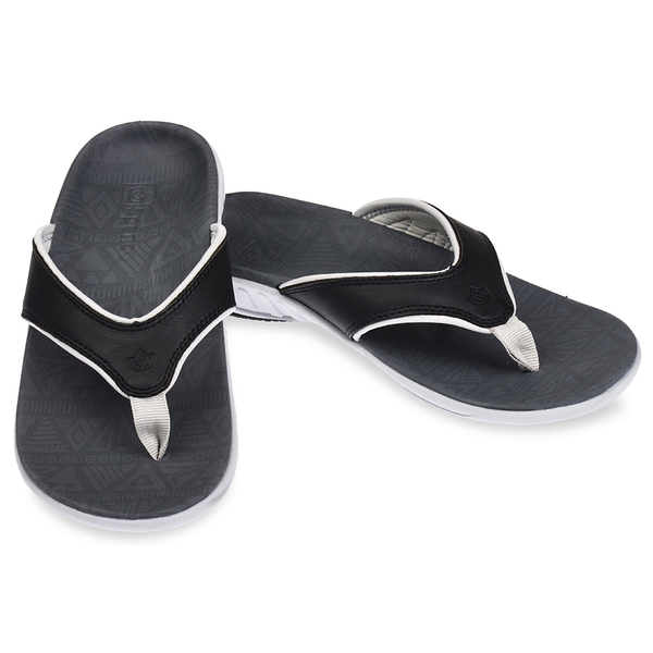 《Spenco》ELITE TRIBAL 女 真皮涼拖鞋 黑色 SF39-874