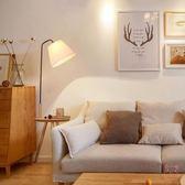 落地燈落地燈客廳床頭燈創意北歐原木美式落地台燈歐式立式置物架台燈具XW(一件免運)