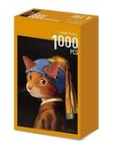戴珍珠耳環的少女貓 /1000P/貓.美術館/聯合數位文創