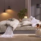 鴻宇 床包薄被套組 雙人加大 色織水洗棉 魯伯特 台灣製2117