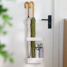 日式入戶家用置傘架壁掛收納柜架門后雨傘桶免打孔放傘置物架門口 橙子精品